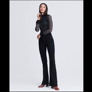 Rag & Bone Jane Super High Rise Flare Black Jeans
